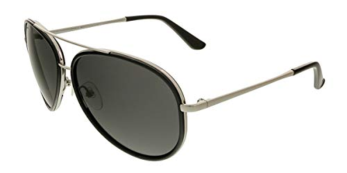 Salvatore Ferragamo Mens Designer Non-Polarized Aviator Sunglasses Black -