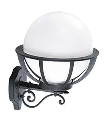 Saturn Outdoor Wall Light With Led Bulb Large Decorative Globe Lantern