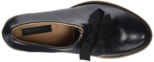 Restored Punta Zapatos S833 Ebony Skin para Neosens Ebony con Cerrada Tacón Mujer de Negro Rococo 1B5qTSx