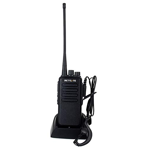 Retevis RT1 Walkie Talkies Long Range High Power VHF 16CH Scan VOX Encryption Two Way Radio with Earpiece 1 Pack