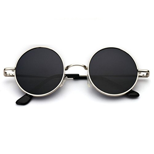 Femmes Des Conduite Visage Personnalité Rétro Personnes Influx Hommes lunettes de soleil Ronde Pilote Lunettes Réfléchissante HL Conduite Boîte Ronde De Ronde SSYrB