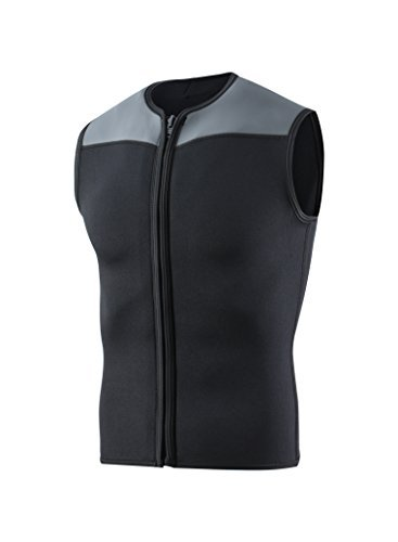 EYCE DIVE & SAIL Mens Wetsuits Top Premium Neoprene 3mm Zipper Diving Vest (XXX-Large) (3mm Zipper Vest)