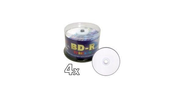 Melody 50 pcs BD-R Blu-ray Recordable White Inkjet Printable