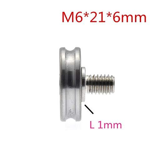 Fevas 10pcs 6216mm M6216mm 626 Bearings, U grooved Roller with Groove, Conductor Groove Wheel, 3 mm Diameter Track Wheel - (Bore Diameter: -