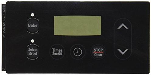 - Genuine OEM 316220712 Electrolux Stove Clock Control Black Overlay New!