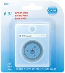 Rotary Trimmer Blade - Bulk Buy: Carl Brands Professional Rotary Trimmer Replacement Blade Straight B-01 (2-Pack)