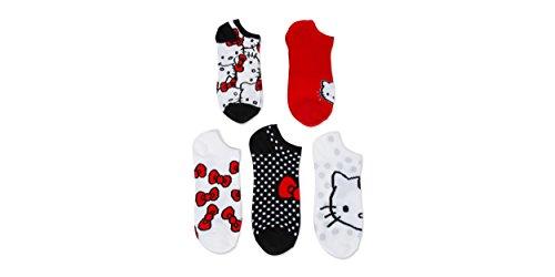 hello-kitty-ladies-and-juniors-5-pk-no-show-socks