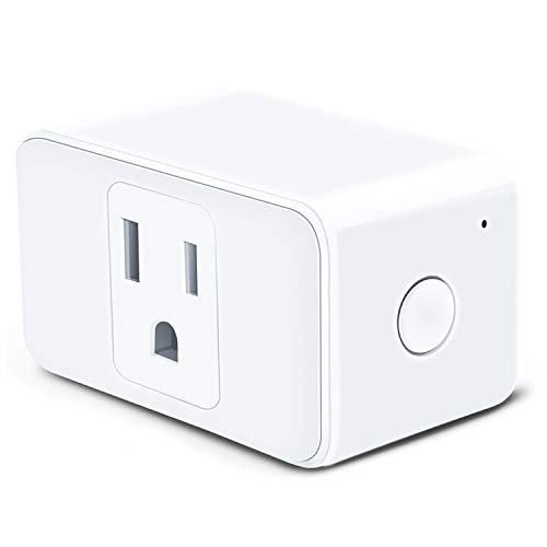 Meross Smart Plug Mini, Outlet Compatible with Alexa & Google Assistant, Wi-Fi Enabled, Schedule Automatically, No Hub Required, Control your Devices from Anywhere, Occupies Only One Socket