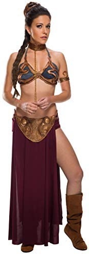 Rubie's Costume Co. Star Wars Jabba's Prisoner Princess Leia Costume, Multicolor, - Halter Vinyl Bra