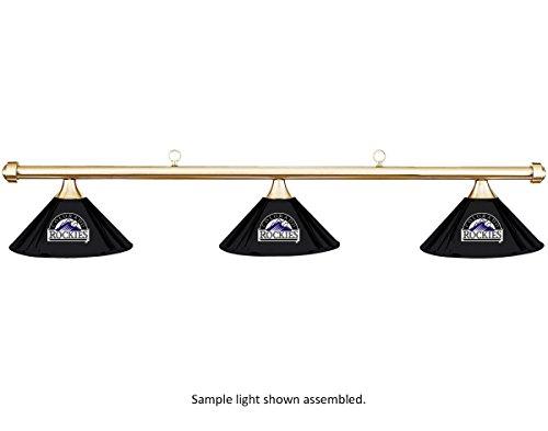 Imperial MLB Colorado Rockies Black Metal Shade & Brass Bar Billiard Pool Table Light