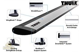 Thule Arb53 Aeroblade 53 Quot Roof Rack Bars Gosale Price
