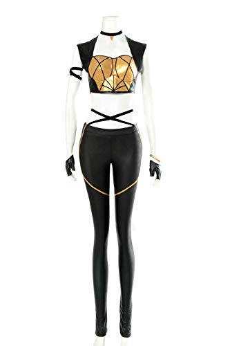 Kaisa Cosplay Costume Group K/DA Kaisa Sexy Outfit Fullsets for Women Cosplay Costume with Gloves