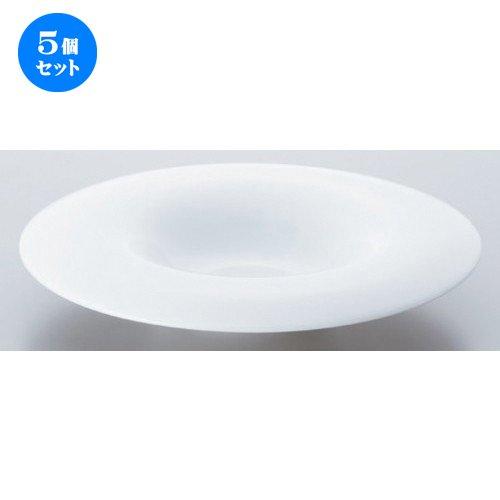 5個セット ペリート24cmパスタ [ 24.3 x 4.7cm 565g ] 【 ボーダーレススタイル 】 【 ホテル レストラン 洋食器 飲食店 業務用 】 B07DCH7WZ8