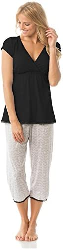 Majamas Lacey Cropped MJ-Black/Oyster