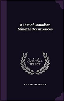 A List of Canadian Mineral Occurrences