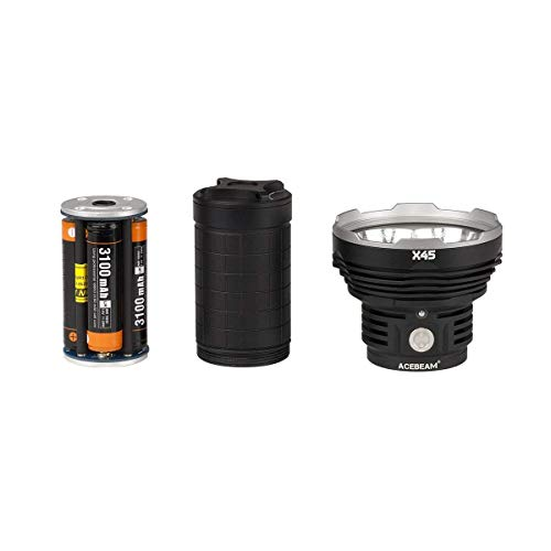 ACEBEAM X45 II Flashlight 18000 Lumens Cree XHP70.2 LED Flashlights High Lumens,Long Thrower 2083ft, 6500K by ACEBEAM (Image #3)