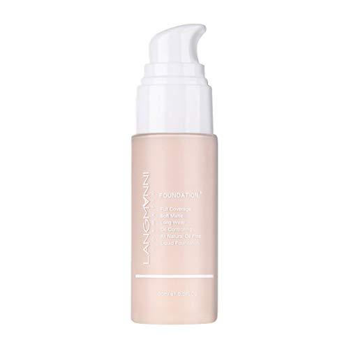 - BXzhiri Natural Foundation Matte Oil Control and Waterproof Concealer Liquid Brighten Skin Lasting Sunscreen Concealer