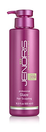 Lanza Conditioner Nourishing (Jenoris Glaze Hair Sculpting 16.9oz/500ml Professional haircare products for women; Ideal for styling especially curls while adding volume; Infused with rich pistachio oil for long lasting results)