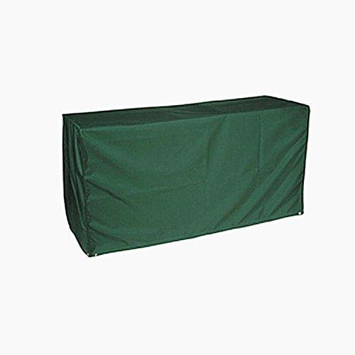 logei® Abdeckung Gartenmöbel Abhaube Möbel Schutzhülle Abdeckplane für rechteckige Gartentische Möbelsets, Dunkelgrün, 205x104x71cm