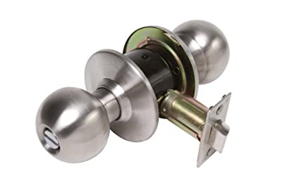 Legend 809083 Grade 2 Heavy Duty Residential, Ball Style Door Knob Privacy Bed and Bath Lockset, US26D Stainless Steel Finish