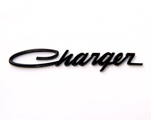 Charger Decal (Yoaoo 1x Black OEM Original Charger Nameplate Emblem Badge Decal for Dodge Charger Chrysler Mopar Chrome Finish (Black))