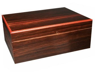Savoy by Ashton Medium Humidor in Macassar, 50 Cigar Capacity by Savoy