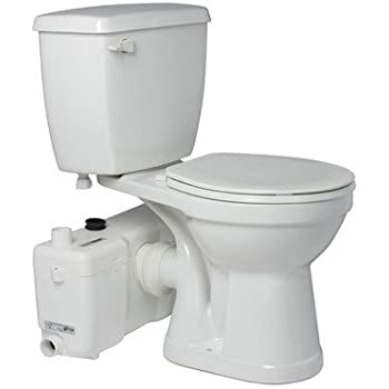 Saniflo Sanibest Grinder Pump with Round White Toilet - Upflush ...