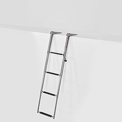 "MARINE BOAT SSL-A4 10/"" 4 STEP DOWN TELESCOPING TOP MOUNT BOARDING LADDER"