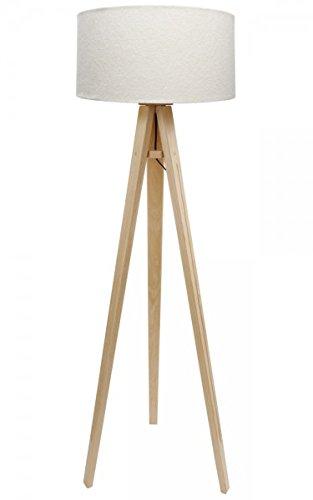 Dreibein Stehlampe Jalua F Velours creme & gold Stativ aus ...