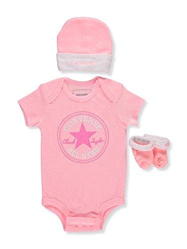 c3dbc16a5d5f47 Converse Baby Girls  3-Piece Layette Set - Arctic Pink