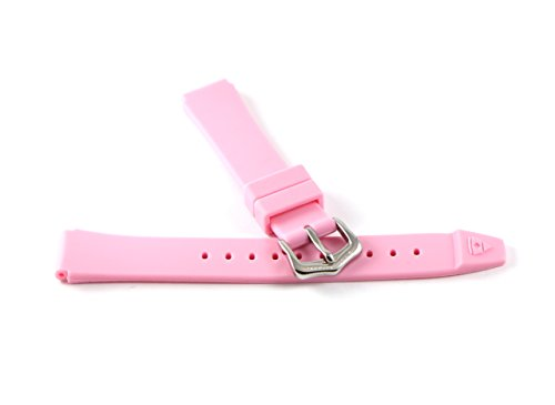 Swiss Legend 16MM Light Pink Rubber Watch Strap & Silver Stainless Buckle fits 35mm Love Connection Watch by Swiss Legend (Image #4)