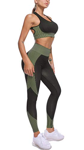 OLCHEE-Womens-2-Piece-Tracksuit-Workout-Outfits-Seamless-High-Waist-Leggings-and-Long-Sleeve-Crop-Top-Yoga-Activewear-Set