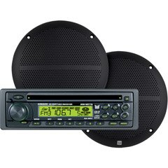 """UPC 827204104132, 208 Watt In-dash Am/fm/wb/cd Receiver and 6 1/2"""" 2-WAY Dual Cone Speakers"""