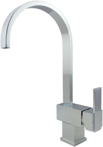 Wellington 8208 Kitchen Sink Faucet Single Handle Single Hole Deck Mount Swivel Spout, Polished Chrome