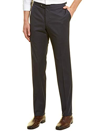 Hickey Freeman Mens Solid Trouser, 34, Blue