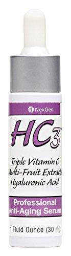 HC3 - Extrêmement puissant triple action 10% de vitamine C sérum avec l'acide hyaluronique et un puissant complexe Superfruit Anti-oxydant! Le plus fort de la vitamine C sérum sur le marché, y compris les trois types actifs de la vitamine C dans une solut