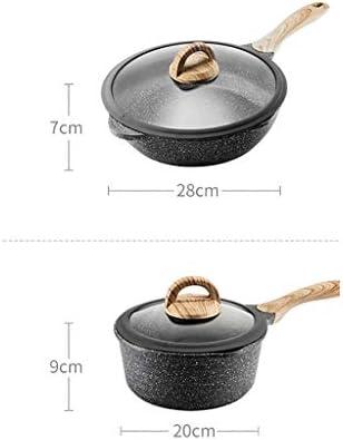 Batterie de cuisine, en aluminium forgé antiadhésifs Casserole, facile à nettoyer, 2 pièces