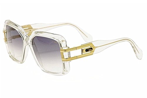 Cazal 623-065 SG Square Sunglasses,Crystal Frame/Grey Gradient Lens,57 ()