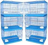 Brand New Lot of SIX Aviary Breeding Bird Cage Cages 24x16x16BLUE, My Pet Supplies