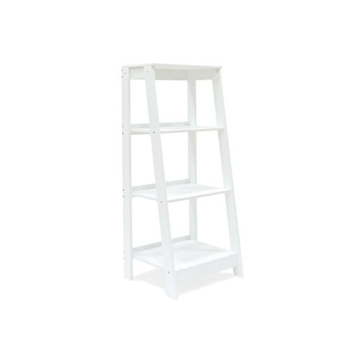 Coismo 3-Tier Ladder Functional Shelf Wooden Home Office Storage Bookcase Display, White by Coismo (Image #7)