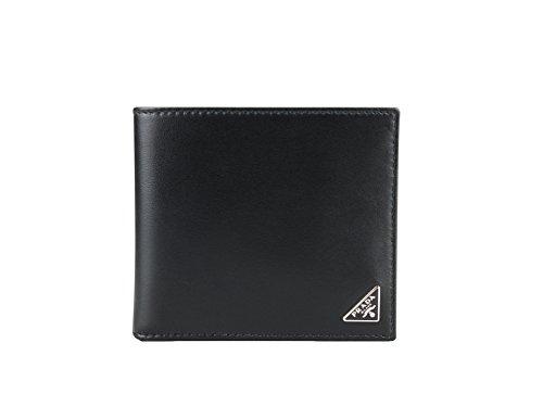Prada Vitello Calfskin Leather Bifold Wallet, Black (Nero) ()