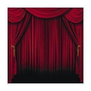 Fun Express Red Curtain Backdrop Banner Decoration 4 Pack