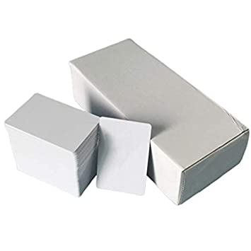 CUHAWUDBA Tarjeta Blanca de PVC Imprimible de InyeccióN de ...