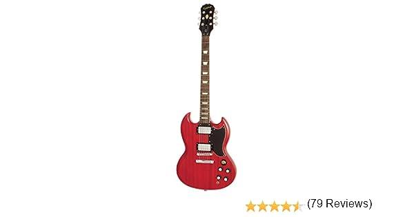 Epiphone Worn G-400 - Guitarra eléctrica, color worn cherry: Amazon.es: Instrumentos musicales