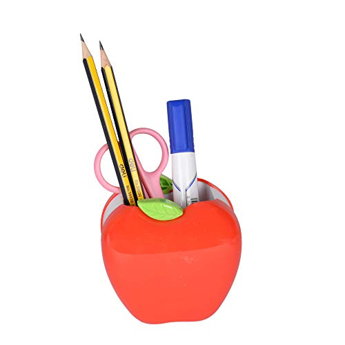 deli Cartoon Pen Stand Set - Pack of 4 (Multicolor)