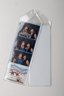 100 Premium Vinyl Photo Booth Bookmark Sleeves 2 1/4 X 6 1/4 for Wedding 2x6 inch Photo Booth sleeve