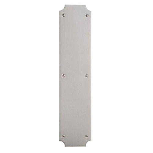 Design Scalloped Satin (Baldwin 2275 3-1/2 Inch x 15 Inch Solid Brass Scalloped Push Plate, Satin Nickel)