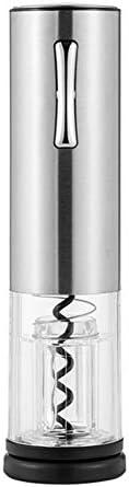 HH- Abrebotellas Abridor de Vino USB Recargable Eléctrico, Abridores Automáticos de Sacacorchos para Botellas de Vino de Acero Inoxidable con Tapón de Vino Al Vacío - Plata
