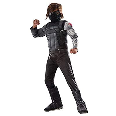 Rubie's Captain America: Civil War Winter Soldier Deluxe Muscle Chest Costume, S: Toys & Games