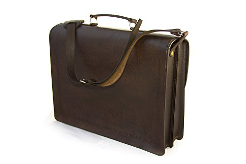 bag by shoulder manta ethically textile family business Bolivia strap and Brown leather in small with produced panel briefcase 1wqnE7xp